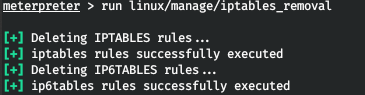 Deleting iptables rules
