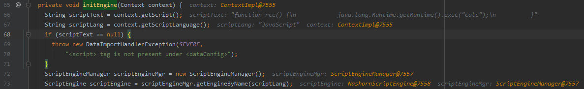 Debugging the initialization of ScriptTransformer