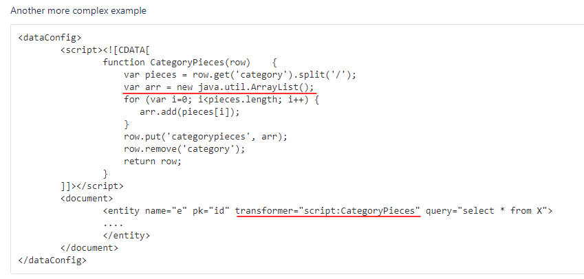 ScriptTransformer with code written in Java